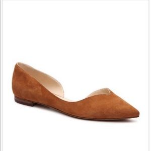 Marc Fisher Amra Pointed Toe Brown Suede Flats